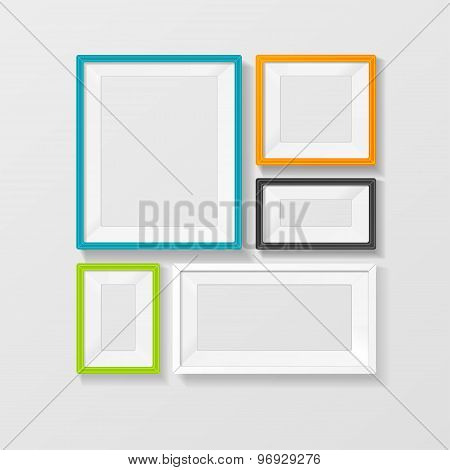 Vector color picture frame vector set