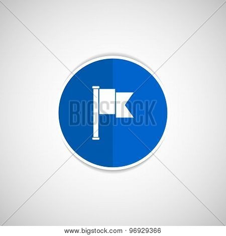 flag icon mark map sign symbol element