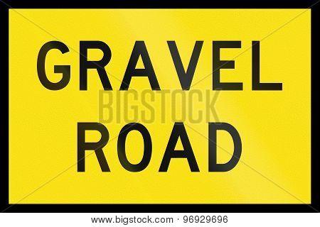 Gravel Road In Australia