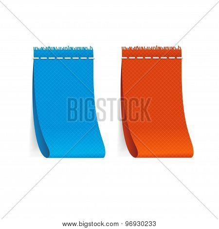 Vector realistic fabric clothing labels