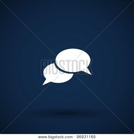 Speech bubbles sign chat vector icon symbol