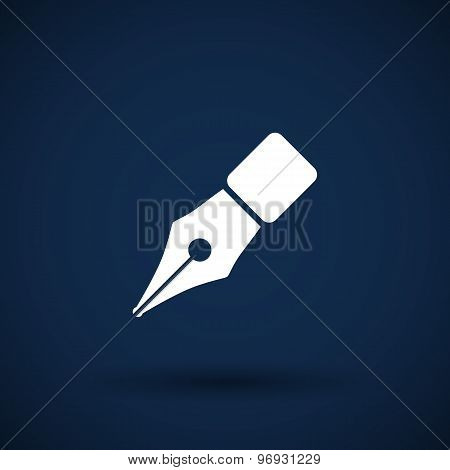 Fountain pen icon business write symbol