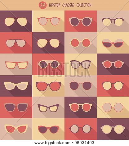 glasses set hipster glasses vector illustration