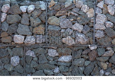 Stones In Iron Net