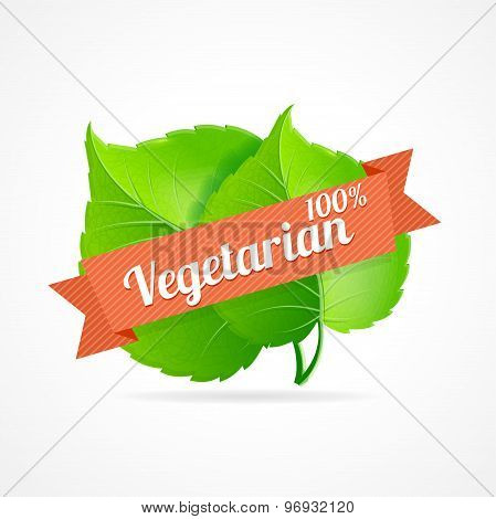 Vector vegan label