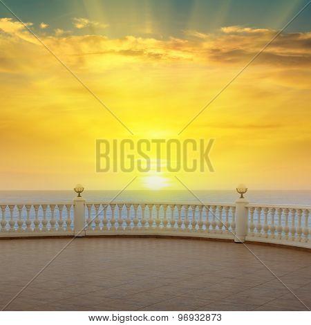 Sea, Sunrise And The Beautiful Promenade