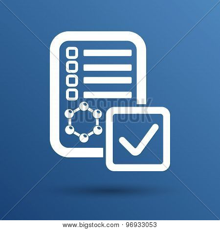 Chemical tubes vector icon test experiment apparatus pharmacist