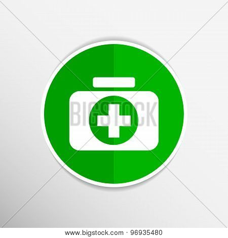 icon cross vector emergency medical symbol doctor medicine chest