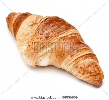 Croissant or  crescent roll isolated on white background cutout