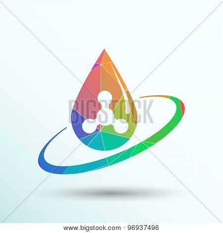 chemical icons icon drop water element formula symbol atom gene.