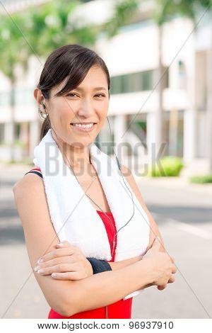 Confident Jogger