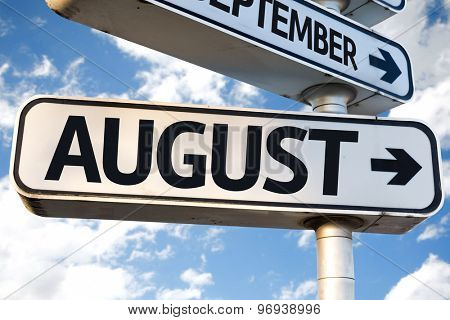 August direction sign