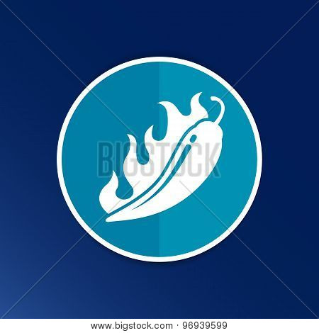 Hot chilli, vector illustration pepper logo isolated paprika