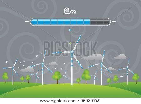 Eco windmills energy charging