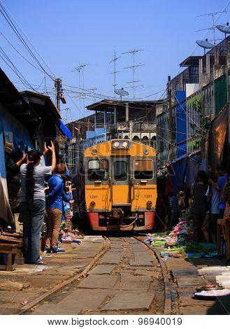 The Famous Railway Markets At Maeklong