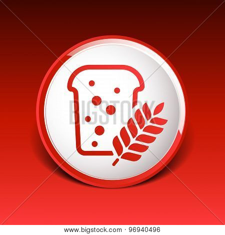 bread ornate design background logo grain meal bun
