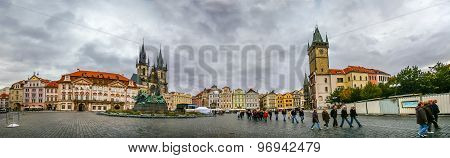 View On Staromestke Namesti In Prague