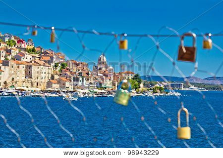 Love Chain Fence In Town Of Sibenik