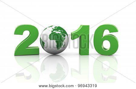 3D Happy New Year 2015 Globe