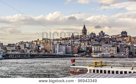 Istanbul Cityscape And Bosphorus Panorama