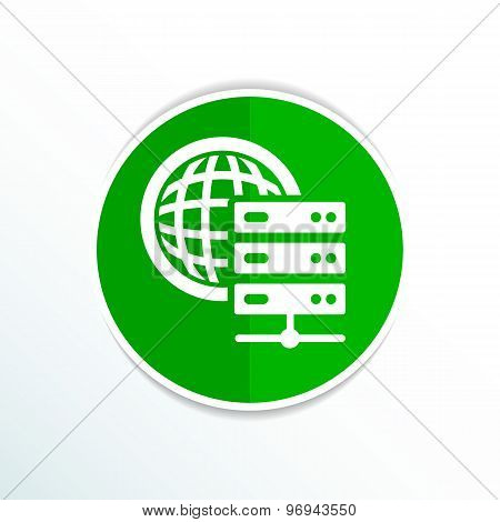 Planet Server icon symbol design workstation world