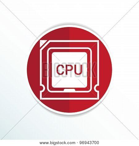 Icon of cpu microprocessor sign symbol process