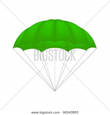 Parachute in green design