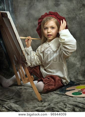 girl the artist paints a picture