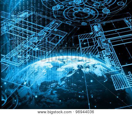 Best Internet Concept of global business from concepts series. (Elements of this image furnished by NASA)
