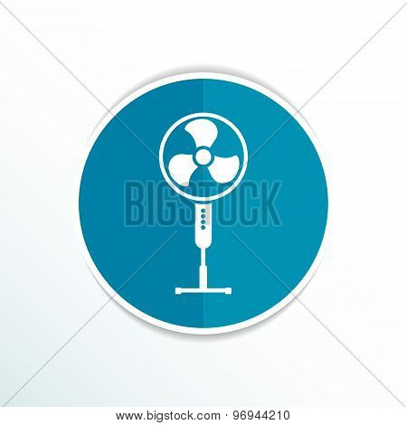 wind turbine icon vector sign cooler rotation