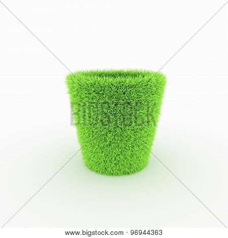 Green Icon - bin, basket