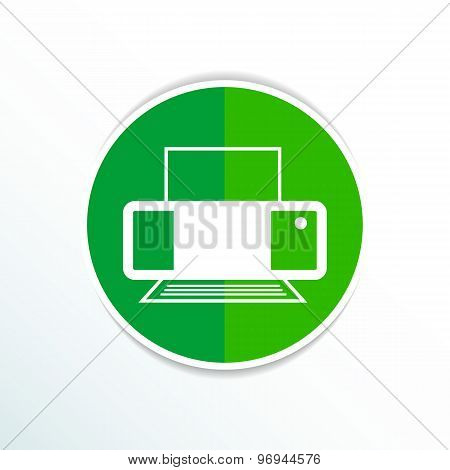 Printer icon vector illustration document print fax