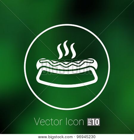 Appetizing hotdog such logo version also available gallery