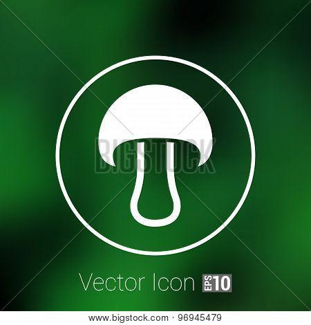 Mushroom sign icon. Boletus mushroom symbol concept