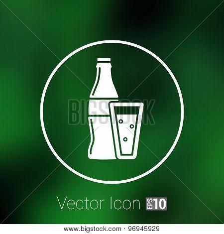 soda bottle design concept logo vector sign line