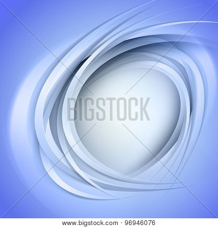 Abstract blue background with circle light lines