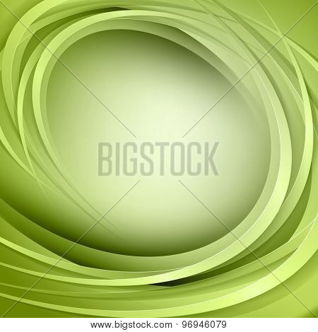 Abstract green background with circle light lines