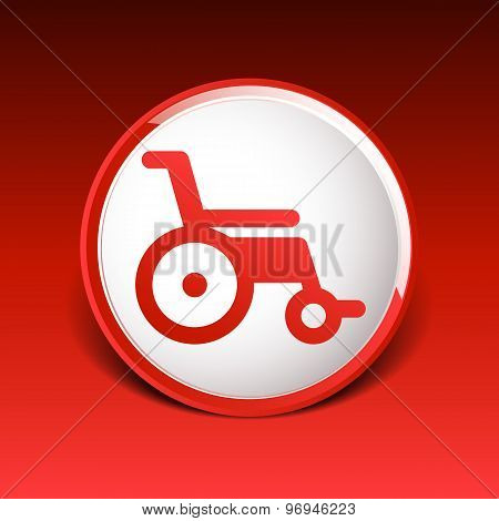 disabled icon sign vector wheelchair handicap symbol