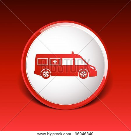 ambulance icon vector medical urgent first relief technician