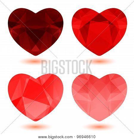 polygonal hearts