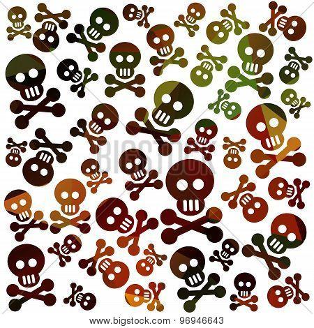 skull and bones background