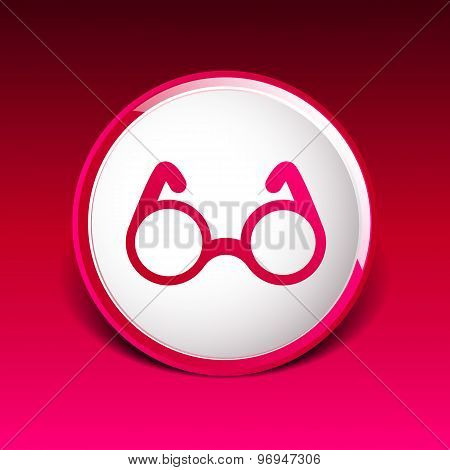 Vector Round Glasses Icon Symbol vision specs decoration
