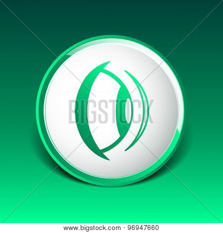Eye lens icon vision view vector look see sight symbol