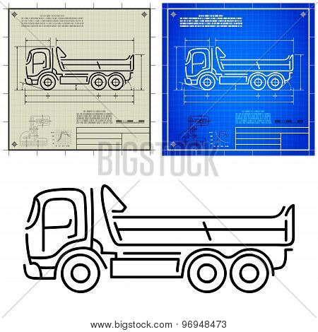 Tipper Dump Truck Icon