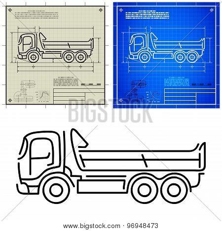 Tipper Dump Truck Icon