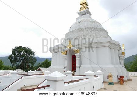 The Architecture Of White Buddhism Pagoda