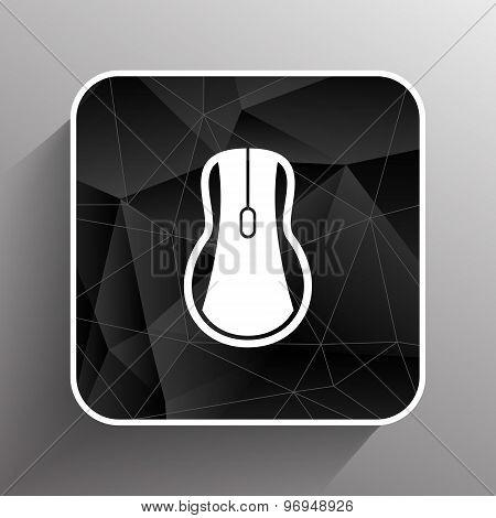 Computer mouse icon, icon vector symbol click button cursor