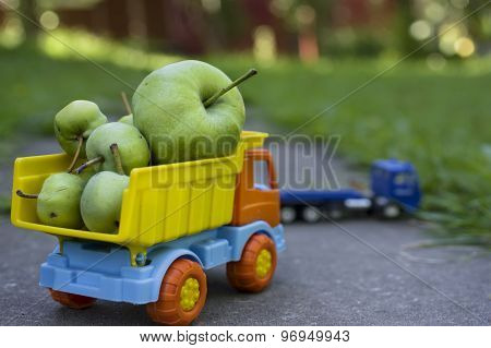 Green Apples In Truck