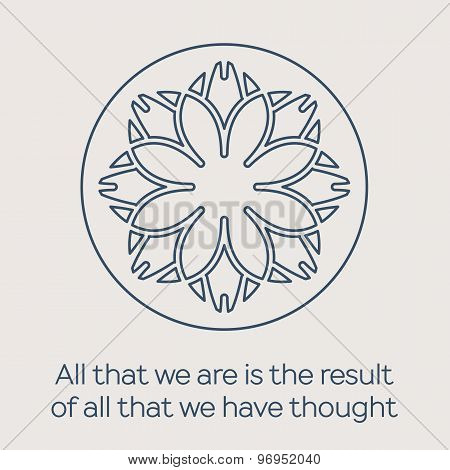 Vector religious circular ornament