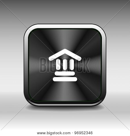 bank icon isolated vector symbol building